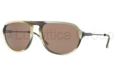 Burberry BE4116 Sunglasses 331873-5918 - Green Horn Frame, Brown Lenses