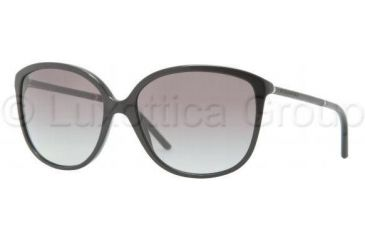 Burberry BE4118Q Sunglasses 3001T3-5916 - Black Frame, Gray Gradient Lenses