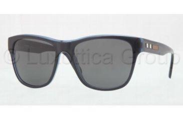 Burberry BE4131 Sunglasses 335087-5617 - Top Blue Frame, Gray Lenses