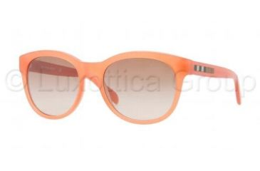 Burberry BE4132 Progressive Prescription Sunglasses BE4132-336613-5318 - Lens Diameter 53 mm, Frame Color Orange