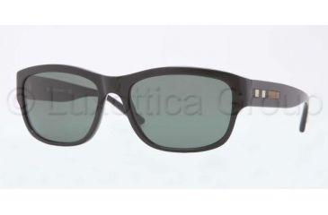 Burberry BE4134 Sunglasses 300171-5617 - Shiny Black Frame, Green Lenses