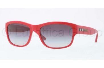 Burberry BE4134 Sunglasses 33648G-5617 - Red Frame, Gray Lenses