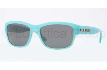 Burberry BE4134 Sunglasses 337587-5617 - Turquoise Frame, Grey Lenses