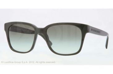 Burberry BE4140 Single Vision Prescription Sunglasses BE4140-33738E-55 - Lens Diameter 55 mm, Lens Diameter 55 mm, Frame Color Green