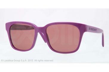 Burberry BE4140 Single Vision Prescription Sunglasses BE4140-339175-55 - Lens Diameter 55 mm, Lens Diameter 55 mm, Frame Color Violet
