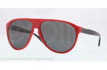 Burberry BE4142 Single Vision Prescription Sunglasses BE4142-339387-59 - Lens Diameter 59 mm, Lens Diameter 59 mm, Frame Color Top Transp/red