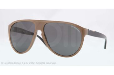 Burberry BE4142 Single Vision Prescription Sunglasses BE4142-339587-59 - Lens Diameter 59 mm, Lens Diameter 59 mm, Frame Color Top Transp/brown