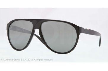 Burberry BE4142 Single Vision Prescription Sunglasses BE4142-33966G-59 - Lens Diameter 59 mm, Lens Diameter 59 mm, Frame Color Top Transp/black