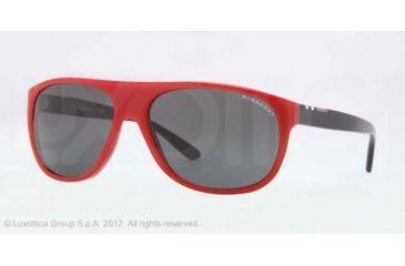 Burberry BE4143 Single Vision Prescription Sunglasses BE4143-339387-58 - Lens Diameter 58 mm, Lens Diameter 58 mm, Frame Color Top Transp/red