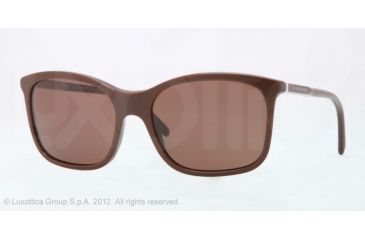 Burberry BE4147 Single Vision Prescription Sunglasses BE4147-340473-57 - Lens Diameter 57 mm, Lens Diameter 57 mm, Frame Color Brown