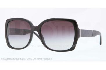 Burberry BE4160 Sunglasses 30018G-58 - Black Frame, Gray Gradient Lenses