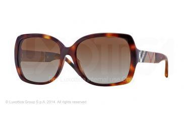 Burberry BE4160 Sunglasses 3316T5-58 - Light Havana Frame, Polar Brown Gradient Lenses