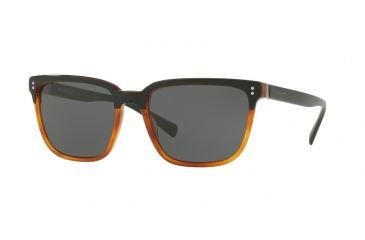 f1935158d218 Burberry BE4255F Sunglasses 36505V-58 - Top Black On Amber Frame