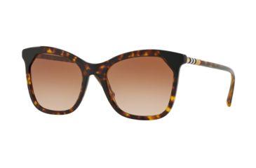 566787e20dc8 Burberry BE4263F Sunglasses 370813-54 - Dark Havana / Black Frame, Brown  Gradient Lenses