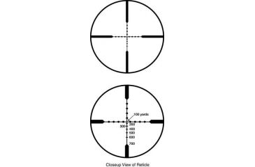 Close-Up View of Burris Reticle