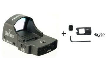 Burris FastFire II Red Dot Sight, 4 MOA Dot Reticle 300233 w/ Burris FastFire Mounting Plate for Ruger 410329