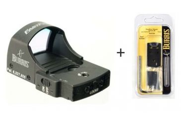 Burris FastFire II Red Dot Sight, 4 MOA Dot Reticle 300233 w/ Burris FastFire Mounting Plate for Glock 410326