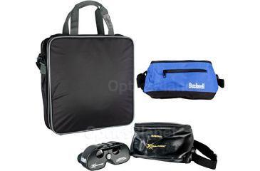 Bushnell Stadium Gift Pack 3 Kit - Bushnell Xtra-Wide 4x21 Sports Binoculars, 6-Pack Cooler Bag, Padded Seat