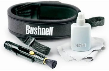 Bushnell Optics Accessories Kit: Neck Strap, Lens Cleaning Pen, Cloth & Solution