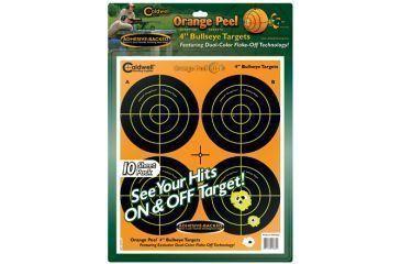 Caldwell Orange Peel 4-in Bullseye Targets, 10 sheets - 410864