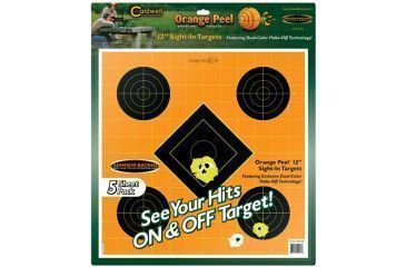 Caldwell Orange Peel Sight-In Paper Targets, 12 inches, 5 Sheets
