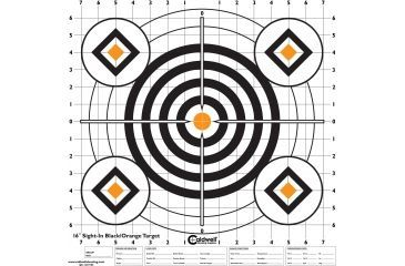 Caldwell Sight In Target 16in, Black and Orange 10pk 195781