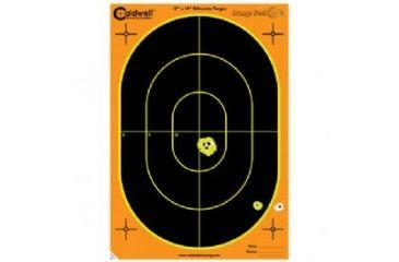 Caldwell Silhouette Targets, 12inx18in, 100 Sheets, Orange Peel 123665