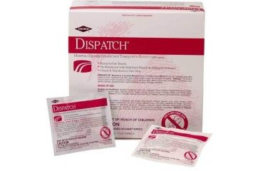 Caltech DISPATCH Cleaner/Disinfectant with Bleach, Caltech 69101 Premoistened Towels Dispenser Of 50