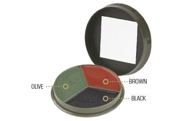 Camcon Camouflage Cream Compact, 3 Color, Black/Brown/Olive CC61330