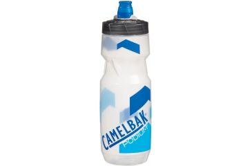CamelBak Podium Bottle 24 oz Water Bottle, Clear/Imola Blue
