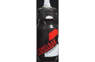 CamelBak Podium Bottle 21 oz Water Bottle, Smoke/Racing Red