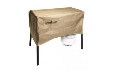 Camp Chef Patio Cover for 2 Burner Stoves, Supports Burner Stove, Dark Green PC32CC