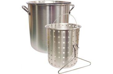 Camp Chef 24 Quart Aluminum Fry Pot & Basket, Silver DP24