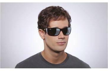 Maui Jim Canoes Sunglasses w/ Gloss Black Frame and Neutral Grey Lenses - 208-02, On Model