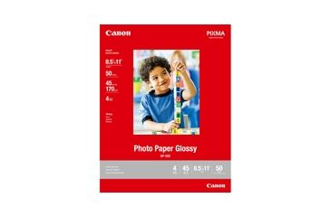 Canon Photo Paper Glossy 8.5 x 11, 100 Sheets 0775B024