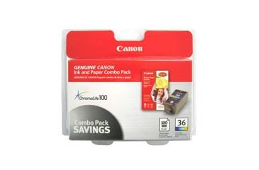 Canon CLI-36 with Photo Paper, 50 Sheets 1511B007