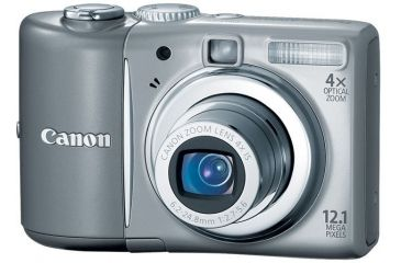 Canon PowerShot A1100 IS 12.1-megapixel Digital Camera Kit Gray 3444B001