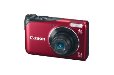 Canon PowerShot A2200 14.1 MP Digital Camera, Red 4944B001