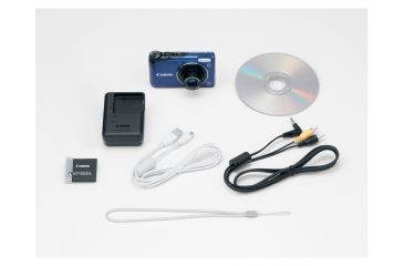 Canon PowerShot A2200 14.1 MP Digital Camera, Blue Included Accessories
