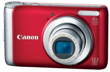 Canon PowerShot A 3100 IS Digital Camera Kit, Red