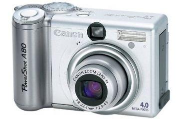 Canon Power Shot A80 4MP Digital Camera Kit w/ 3x Optical Zoom -