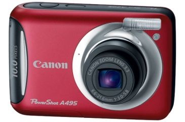 Canon Photo Camera Power Shot A495 - Red