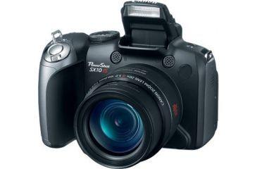 Canon PowerShot SX10 Front W/ Pop-Up Flash