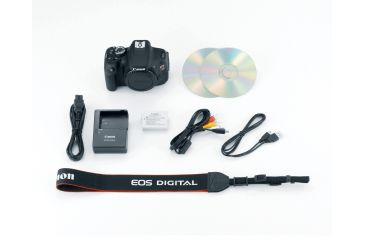 Canon EOS Rebel T3i 18MP Digital Camera Package Contents