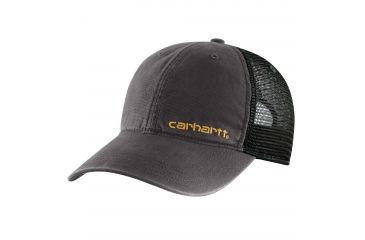 84537df31ab94 ... top quality carhartt brandt camo mesh back cap mens black one size  101194 001 5b03a d3620