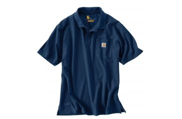 1d217ba1 Carhartt Contractors Work Pkt Polo Org Fit - Mens, Dark Cobalt Blue  Heather, XXL