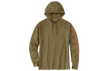9afdbcc3 Carhartt Force Fishing Graphic Hooded T-Shirt - Mens, Military Olive, Small-