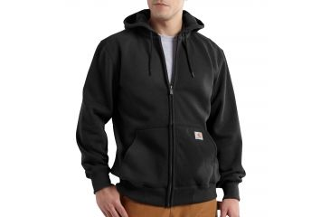 946232116b Carhartt Rain Defender Paxton Heavyweight Hooded Zip-Front Sweatshirt for  Mens, Black, 2XL