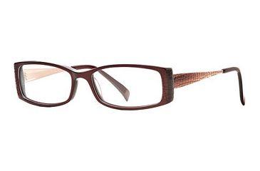 Carmen Marc Valvo CM Adriel SECM ADRI00 Bifocal Prescription Eyeglasses - Wine SECM ADRI005235 RD