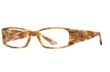 Carmen Marc Valvo CM Apolonia SECM APOL00 Bifocal Prescription Eyeglasses - Spanish Amber SECM APOL005330 BN